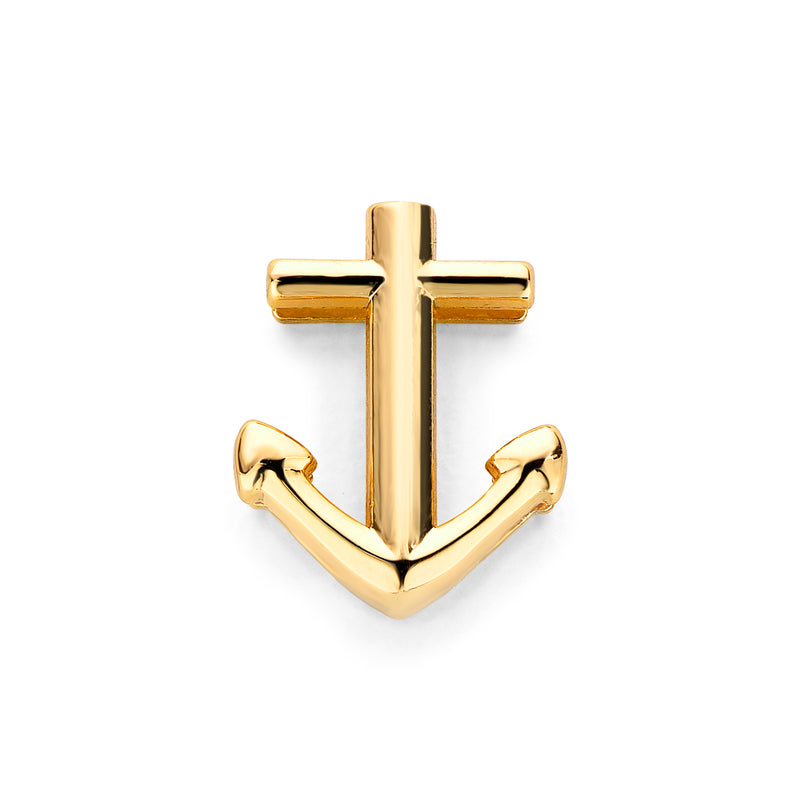 Mesh charm anchor gold