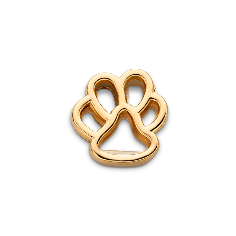 Mesh charm dog foot gold