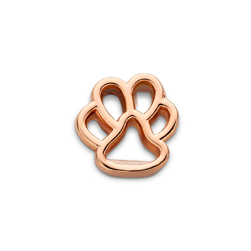 Mesh charm dog foot rosé gold