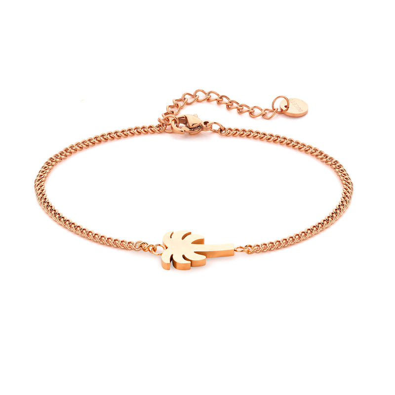 Palm tree bracelet rosé gold