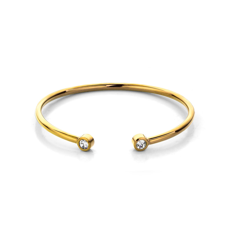 Diamond bangle gold