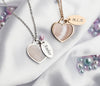 Seashell heart & tag silver
