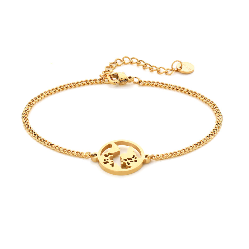 World bracelet gold
