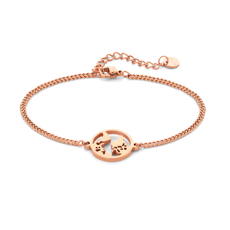 World bracelet rosé gold