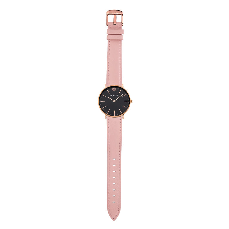 Pink leather strap rosé gold
