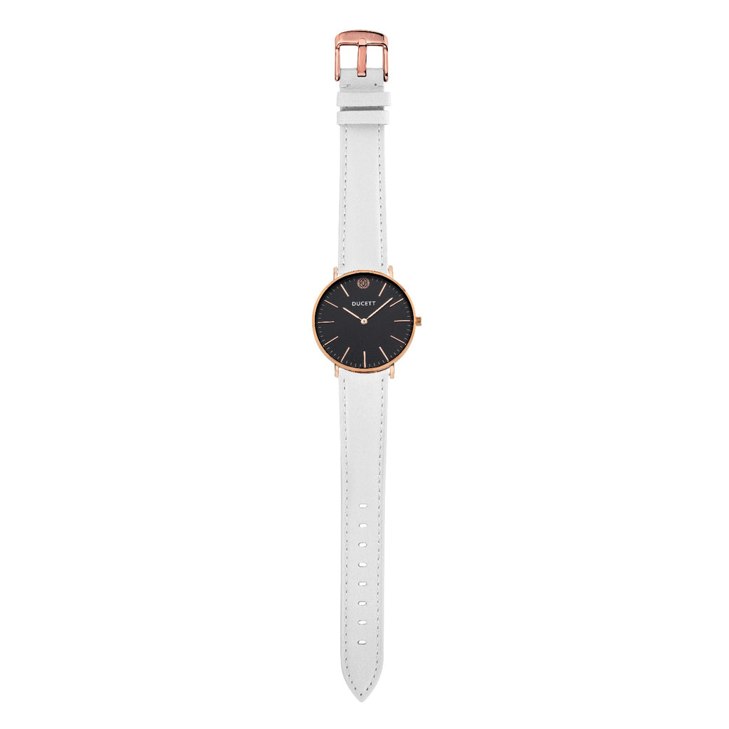 White leather strap rosé gold