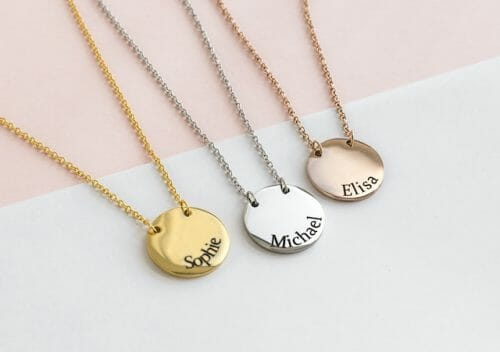 Coin necklace rosé gold
