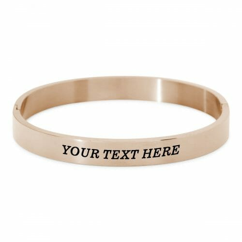 Quote bangle rosé gold