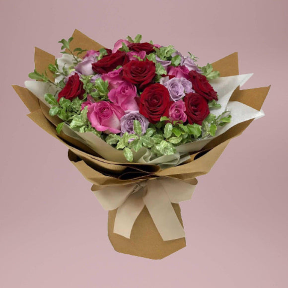 h.f.flora - Mixed Roses (Delivery District: Hong Kong Island or Kowloon)