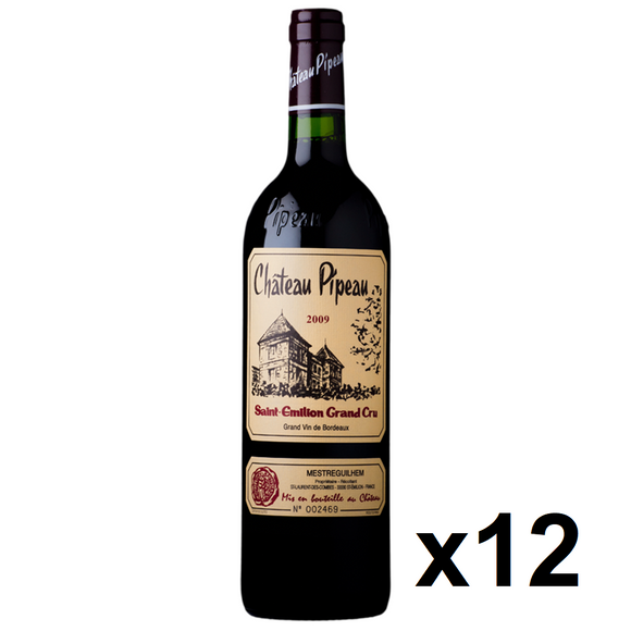 OKiBook - Chateau Pipeau 2009, Saint-Emilion Grand Cru, Bordeaux, France - 750ml [12 bottles]