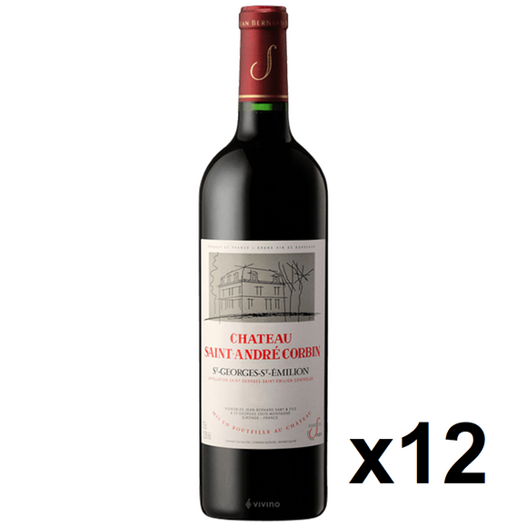 OKiBook - Chateau Saint Andre Corbin 2009, St Georges St Emilion, Bordeaux, France - 750ml [12 bottles]