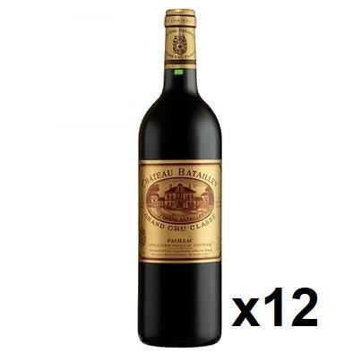 OKiBook - Chateau Batailley 2008, Pauillac 5eme Cru, Bordeaux, France - 750ml [12 bottles]