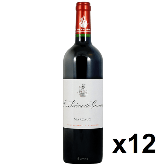 OKiBook - La Sirene de Giscours 2010, Margaux, Bordeaux, France - 750ml [12 bottles]