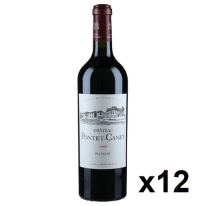 OKiBook - Chateau Pontet Canet 2008, Pauillac 5eme Cru, Bordeaux, France, 750ml [12 bottles]
