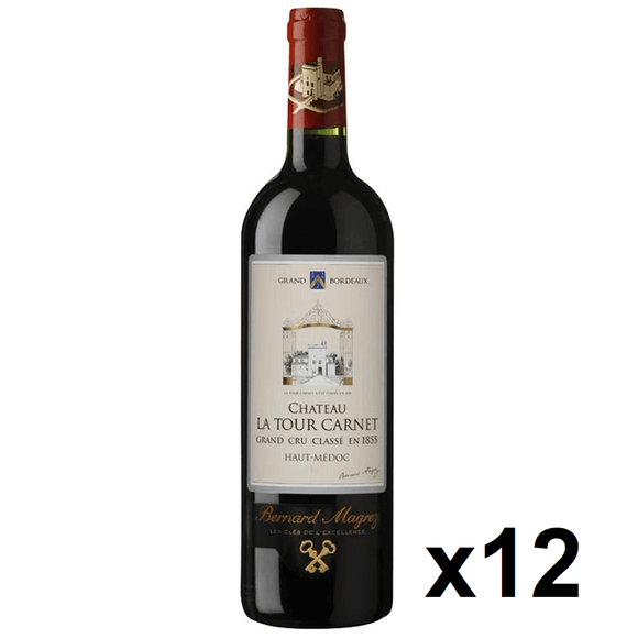 OKiBook - Chateau La Tour Carnet 2011, Haut-Medoc 4eme Cru, Bordeaux, France, 750ml [12 bottles]