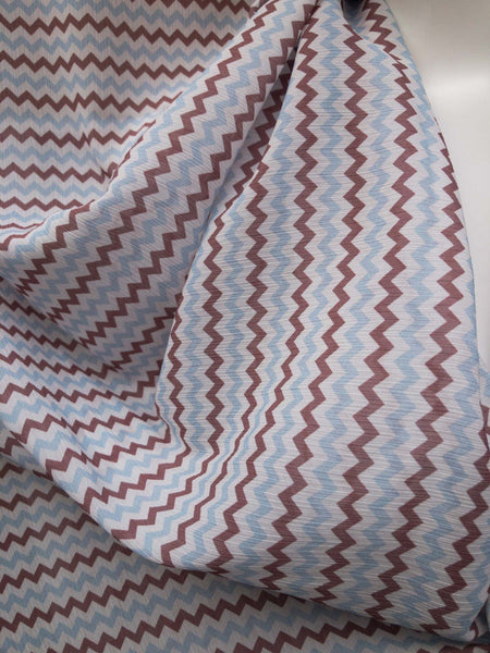 Transparante zigzag print polyester