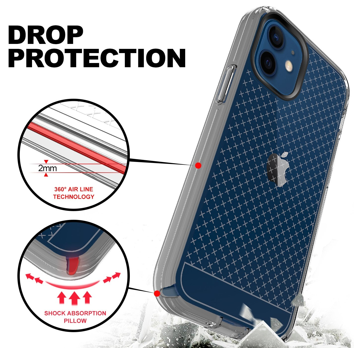 ZEOS Klarity-XT Clear Case for iPhone 12 Pro Max