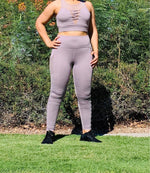 Load image into Gallery viewer, Wrapround Mesh Lace Front Sports Bra & Full Pocket Leggings