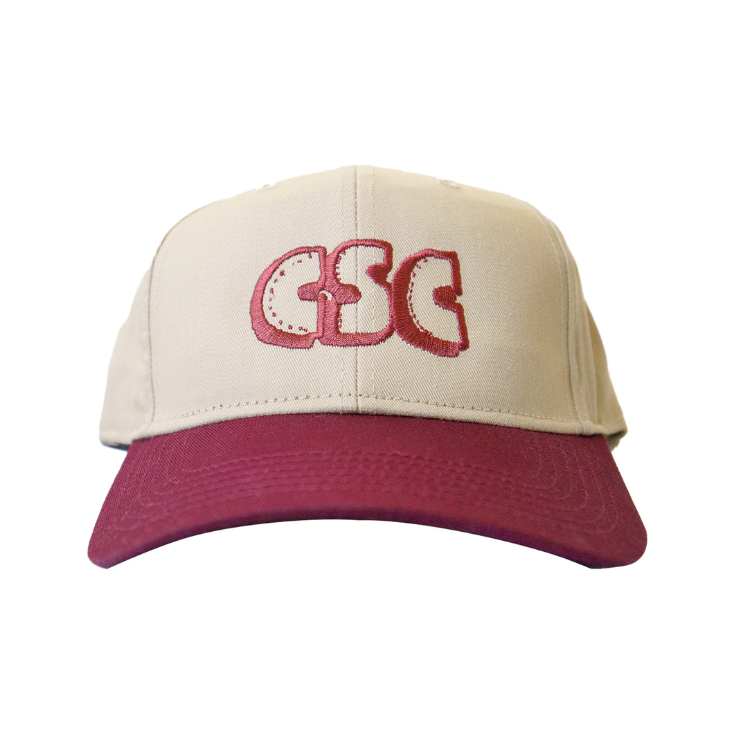 OG Logo 6 Panel (Maroon/Cream)