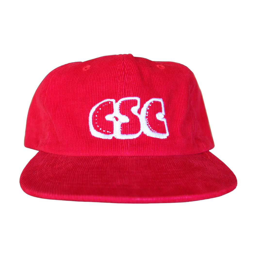 Corduroy OG Logo 6 Panel (Red)