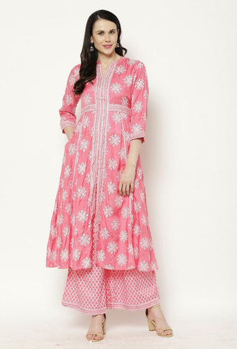 Rama's Women Kurta and Palazzo Set
