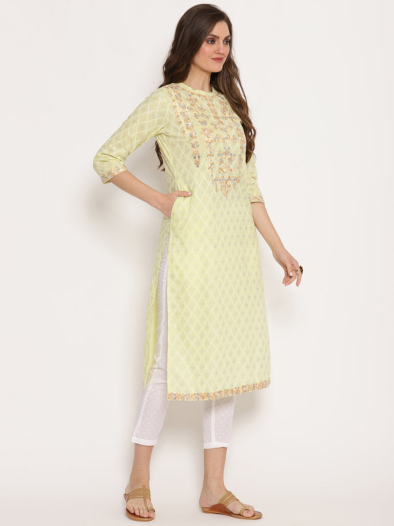 Rama's Cream Cotton Kurtas