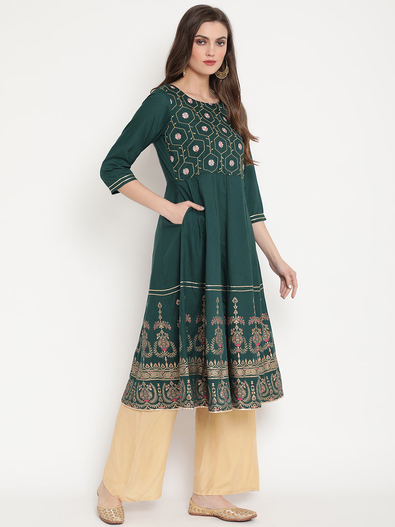 Rama's women Embroidered Anarkali kurta