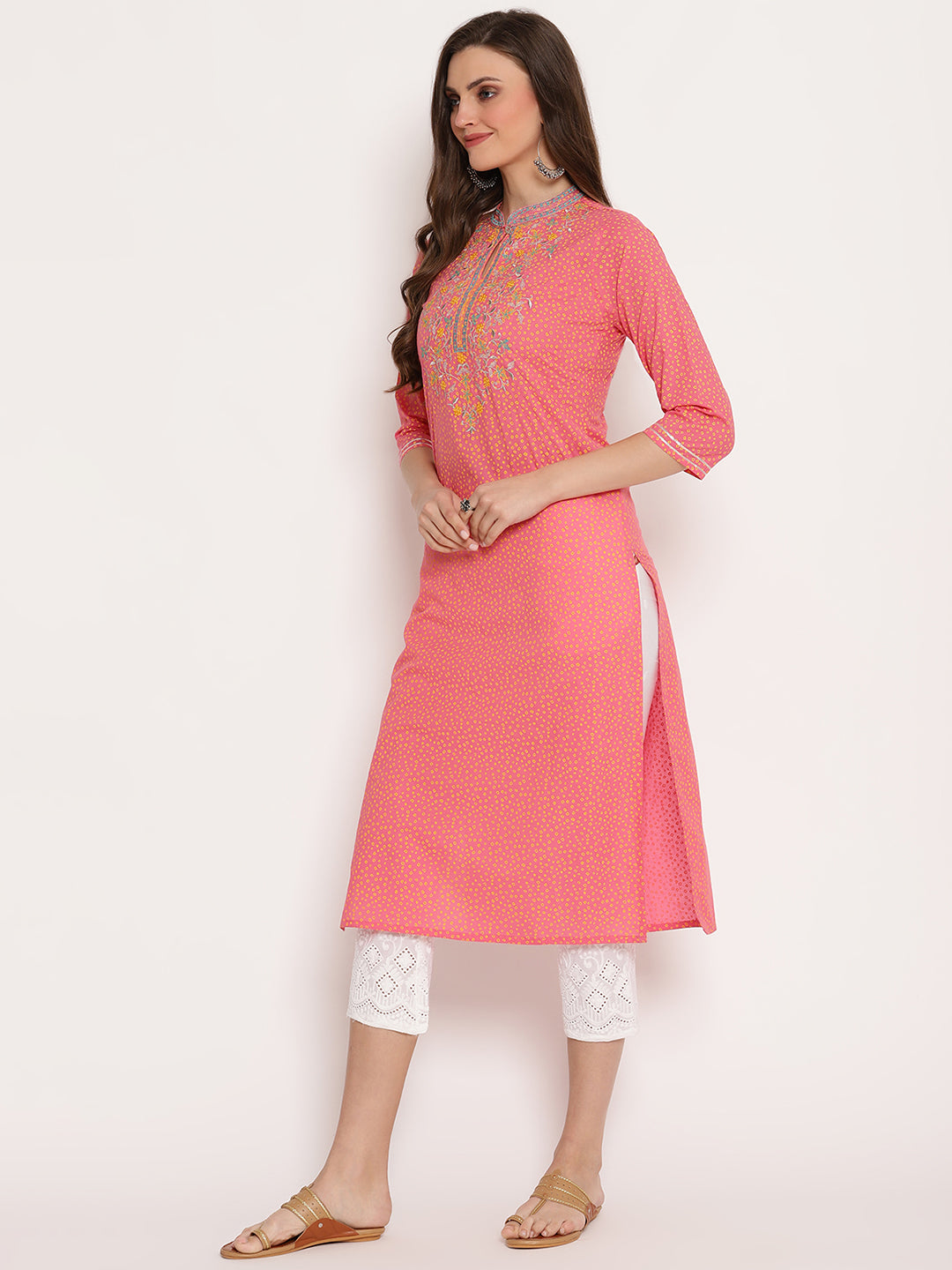 Rama'swomen embroidered straight kurta