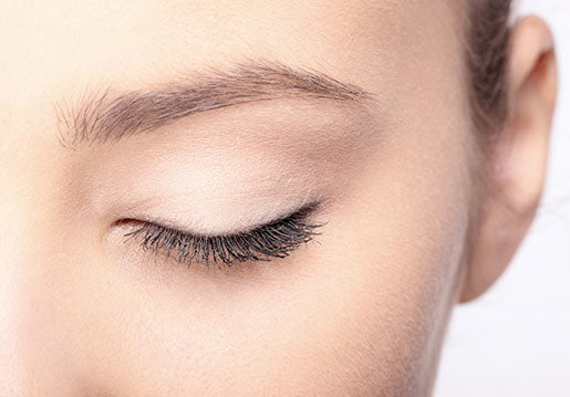 Close up of a woman's closed eye