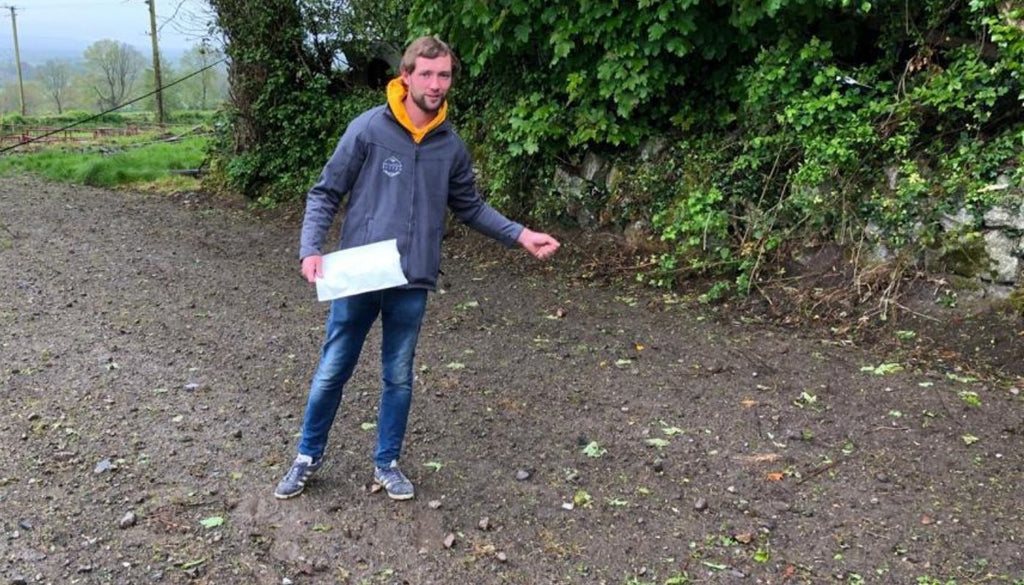 Paul Smyth of Garden conversations co hosted with Diarmuid Gavin, sowing wildflower Seeds