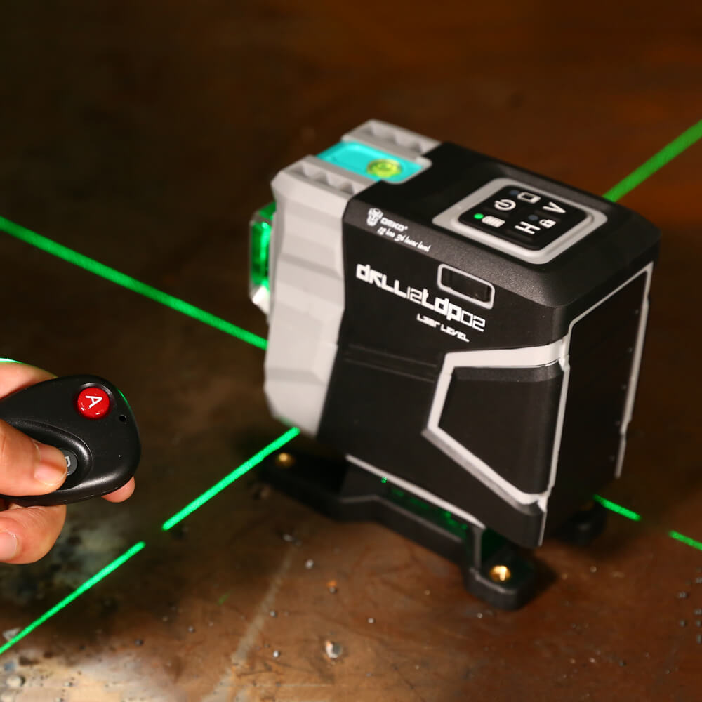 DEKO DKLL12tdP02 12 lines 3D cross line laser green laser horizontal vertical cross lines