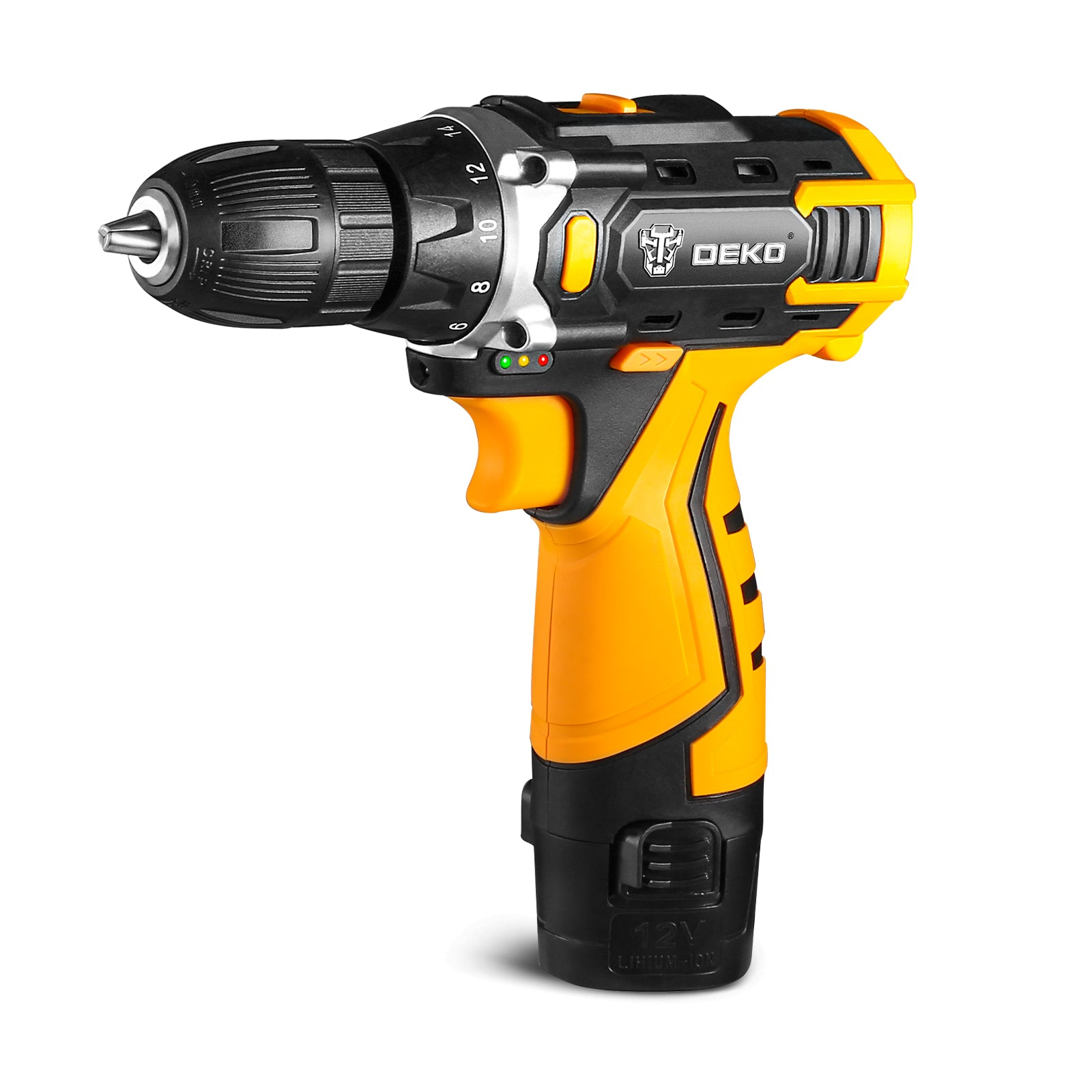 DEKO New Series 12V Cordless Drill Screwdriver Mini Wireless Power Driver 18+1 Torque Settings Lithium-Ion Battery