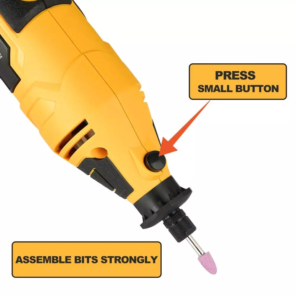 DEKO 220V Electric Drill Variable Speed Mini Grinder Rotary Tool Kit Cutting Polishing Drilling with dremel Accessories