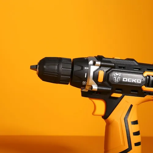 DEKO DKCD16FU-S3 16V Cordless Drill Screwdriver Mini Wireless Power Driver 18+1 Torque Settings Lithium-Ion Battery