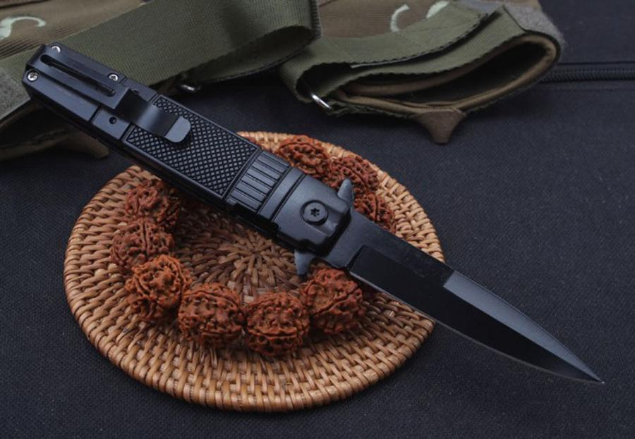 2019 new knife Knives Side Open Spring Assisted Knife 5CR13MOV 58HRC Stee+aluminum Handle EDC Folding Pocket Knife Survival Gear