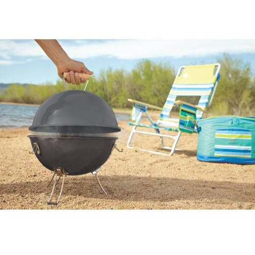 Coleman Party Ball Charcoal Grill, Black, Steel