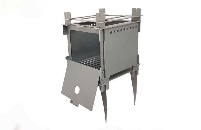 Compact Titanium stove: Wood burning, Bushcraft Gear, Camp Camping Survival Kit Titanium, FlatPackCollapsible, Portable Compact