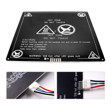 Load image into Gallery viewer, XVICO 12V 220x220x3mm Aluminum Heated Bed with Hotbed Wire