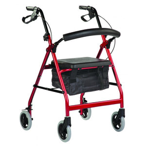 Wheeled Walker - Smooth Glide - Red