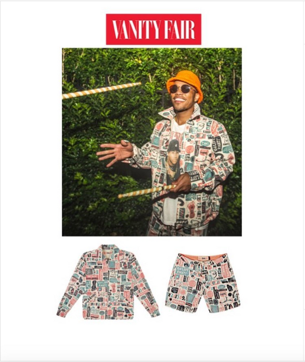 Anderson Paak for Vanity Fair in LL Cool J Tee from Storeroom Vintage