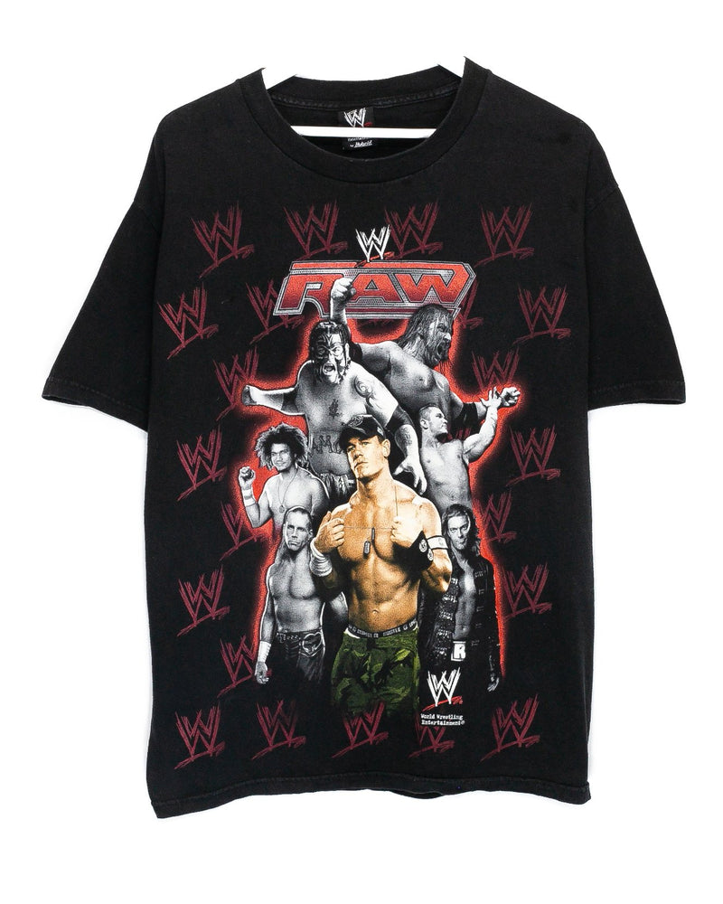 Vintage Monday Night Raw WWE Wrestling T-Shirt <br> (L)