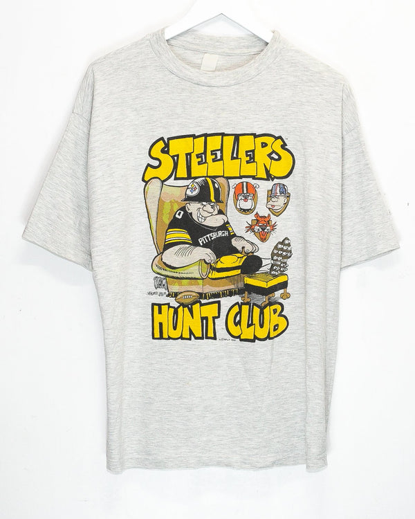 Vintage '91 Pittsburgh Steelers NFL T-Shirt <br> (L)