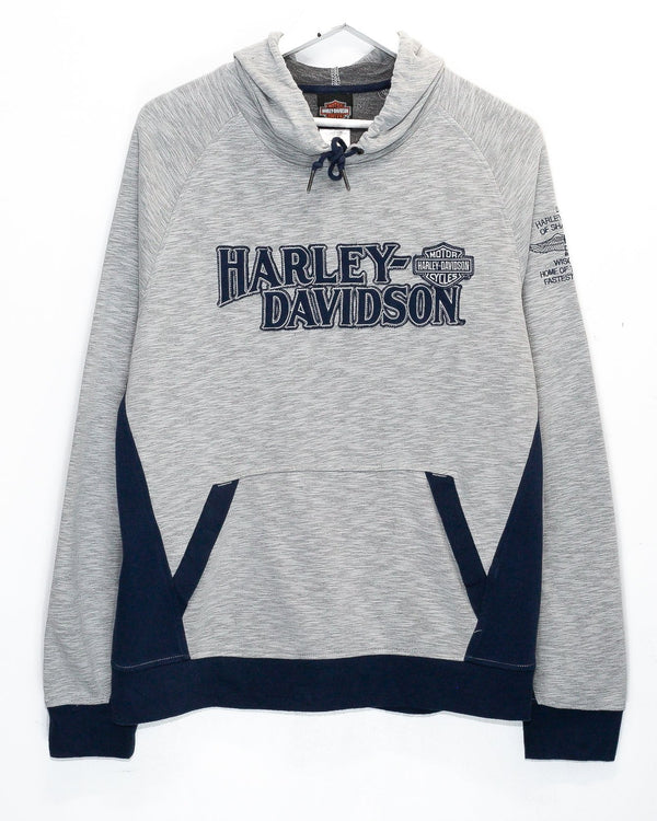 Vintage Harley Davidson 'Shawano, WI' Embroidered Hoodie <br> (M)