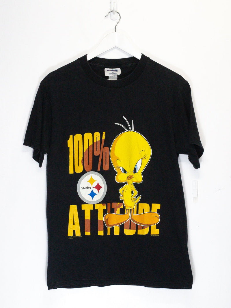 Vintage Tweety Bird Pittsburgh Steelers T-Shirt <br> (M)
