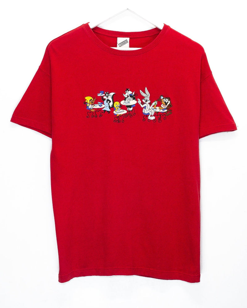 Vintage Looney Toons Embroidered T-Shirt <br> (M)