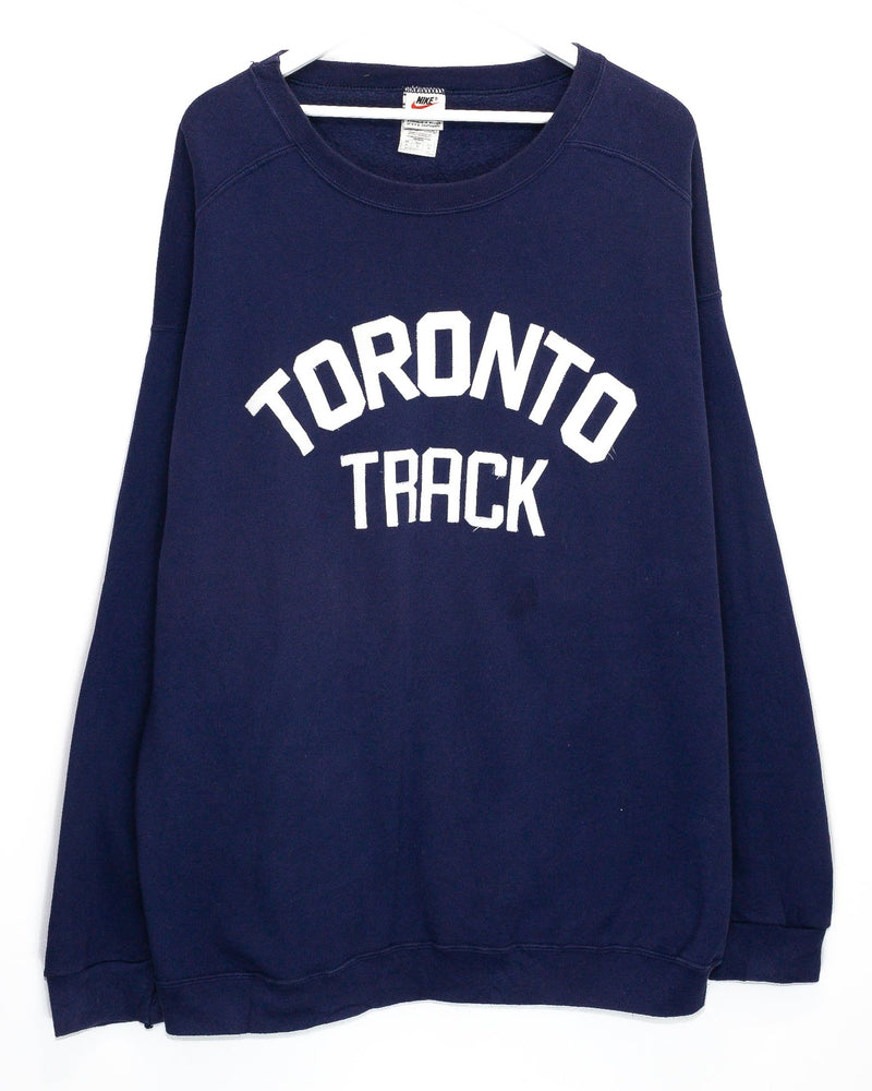 Vintage Nike Toronto Track Embroidered Jumper <br> (XL)