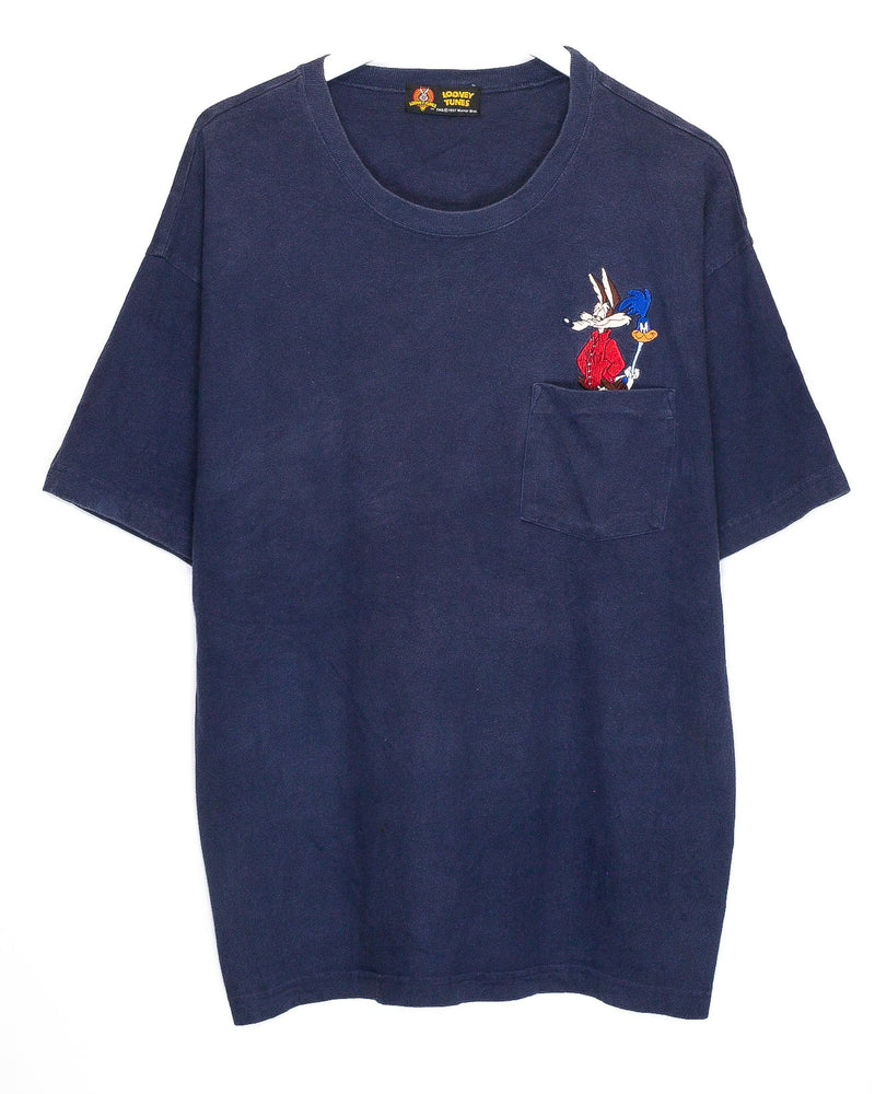 Vintage Looney Tunes Embroidered T-Shirt <br> (XL)