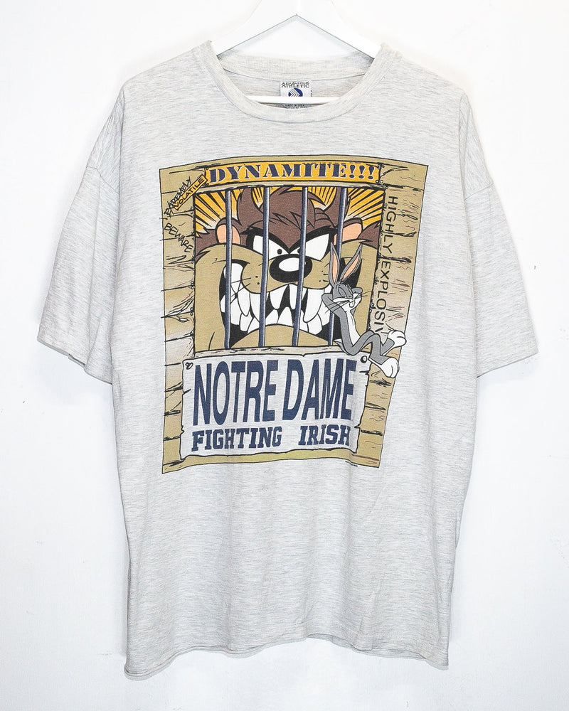 Vintage Tazmanian Devil University of Notre Dame T-Shirt <br> (XXL)