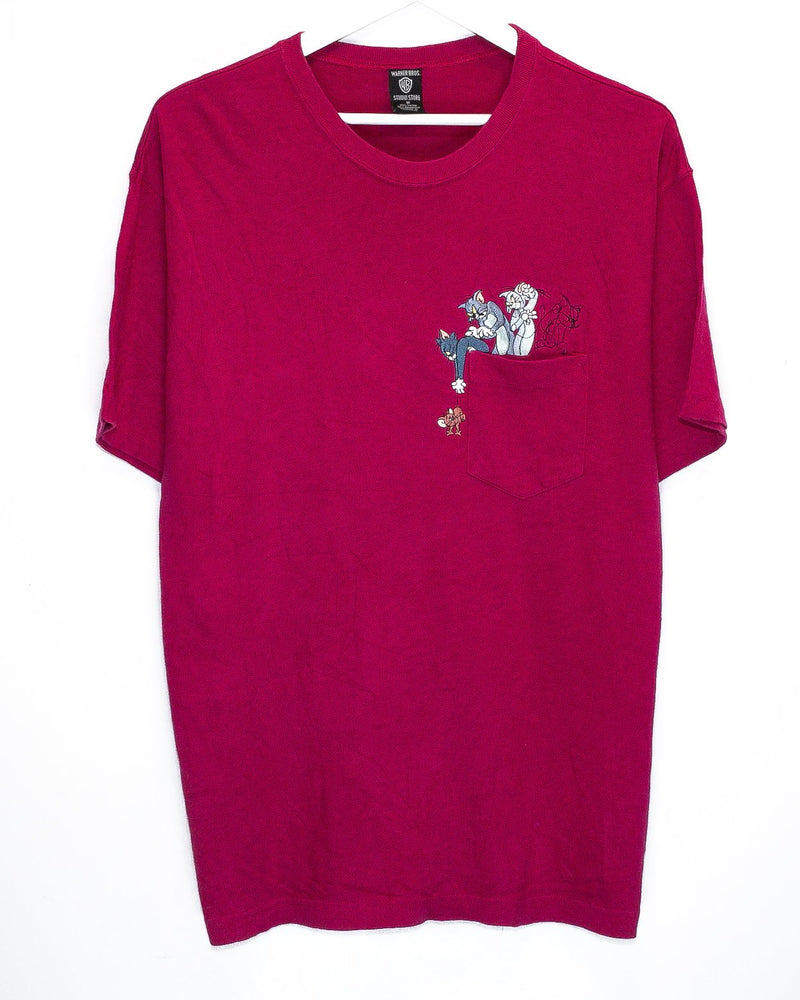 Vintage Looney Tunes Embroidered T-Shirt <br> (L)