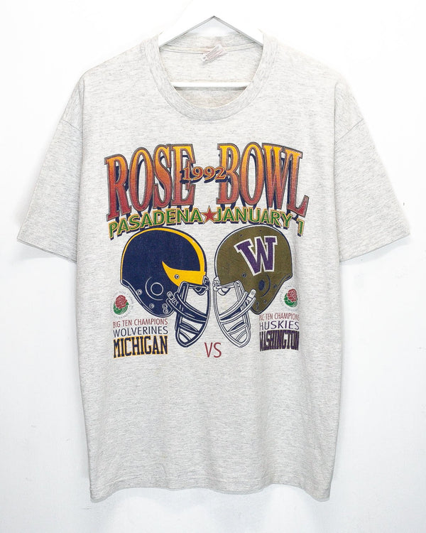 Vintage '92  University of Washington v. University of Michigan Rose Bowl T-Shirt <br> (L/XL)